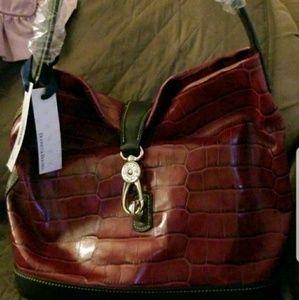 Vintage Dooney and Bourke Burgundy Leather Bag